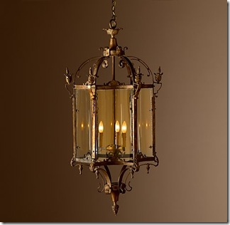Perfect Burnished bronze patina will grow richer with time This is my idea of a stunning solid brass lantern Designed by Mark Sage for Restoration Hardware