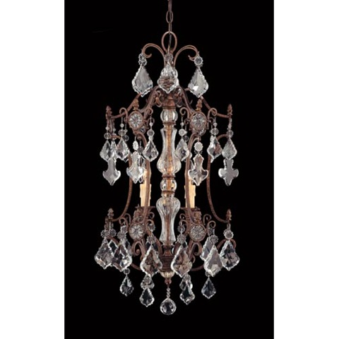 Perfect  Rustic oxidized metal with beautiful crystals and a center glass insert This is slightly smaller then the above chandelier but more of a pendant feel